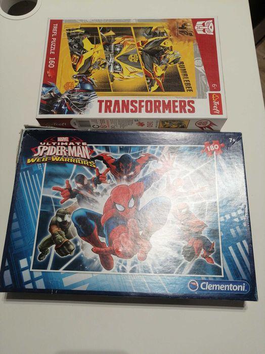 Puzzle Spider-Man  i transformers 180/160 elementów Wrocław - image 1