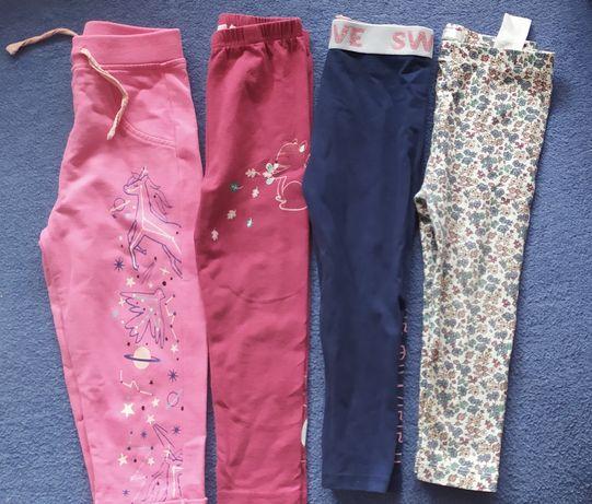 Zestaw Spodni legginsy getry dla dziewczynki r.86 92