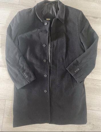 Plaszcz zimowy czarny meski elegancki