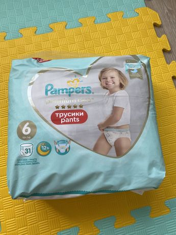 Pampers premium care трусики 6 размер
