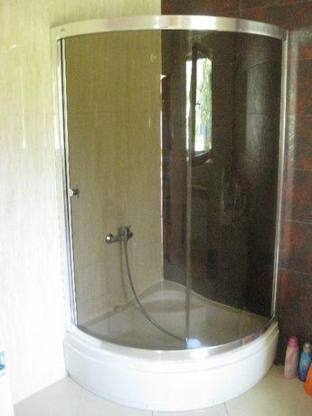 kabina prysznicowa szklo 8mm! 100cm z brodzikiem komplet