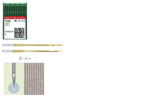 Иглы Groz Beckert 135x17 GEBEDUR №110 R с стандартным острием