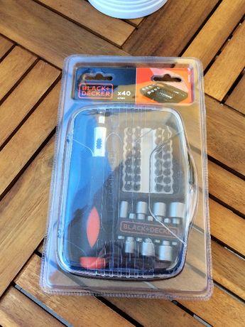 Aparafusadora 40 peças Black&Decker