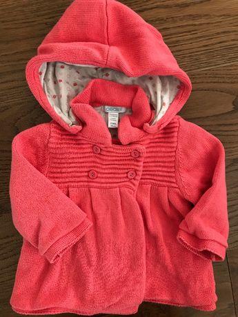 Ciepły sweterek/narzutka r68 OBAIBI (założony 2 razy)