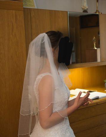 Welon ślubny, biały, brak uszkodzeń