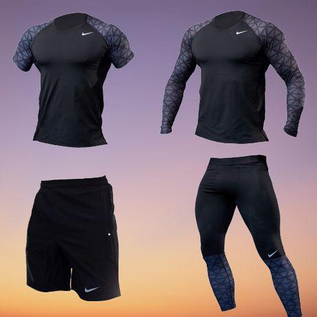 Компрессионное белье одежда для зала NIKE 4 Рашгард Лосины для спорта