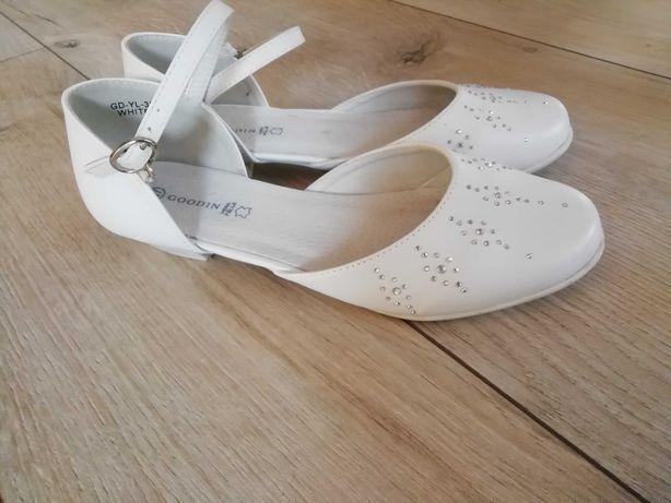 Buty białe, komunia,  komunijne, wesele rozmiar 37