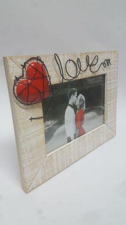 Fantástica Moldura 3D em madeira Namorados Casal Amor