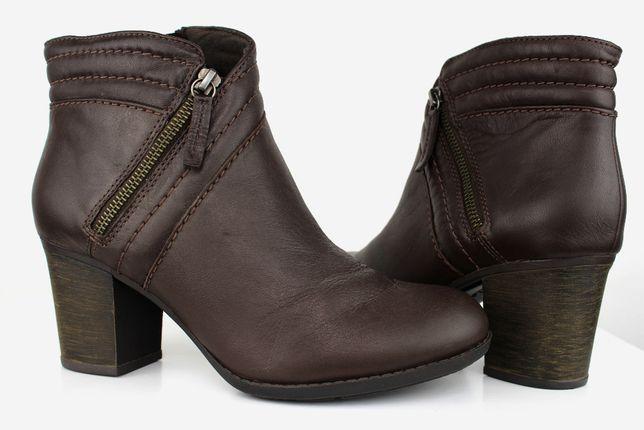 Clarks SKÓRA NAT. botki buty damskie r 39,5 Nowe -60%