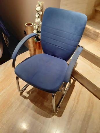 Krzesło fotel niebieski krzesełko masywne fotelik home agata