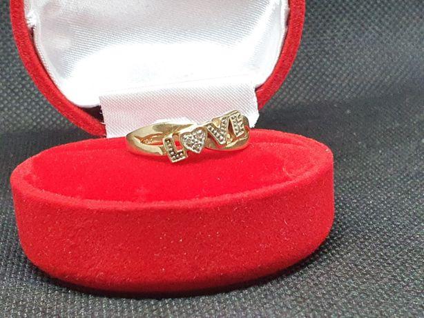 Złoto Złoty Damski Niepowtarzalny Pierścionek 375 9K 2,55gr LombAArd