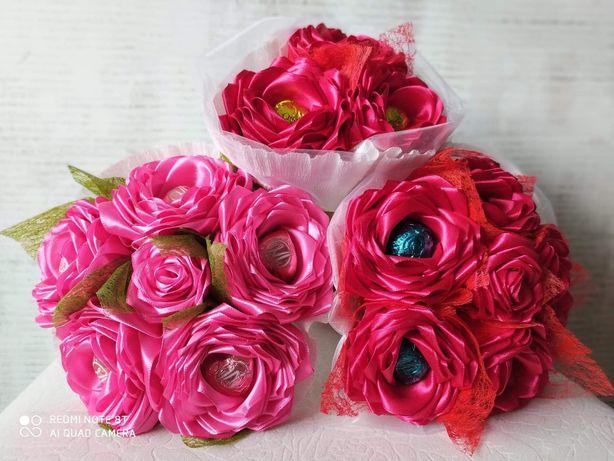 Kwiaty ręcznie robione.