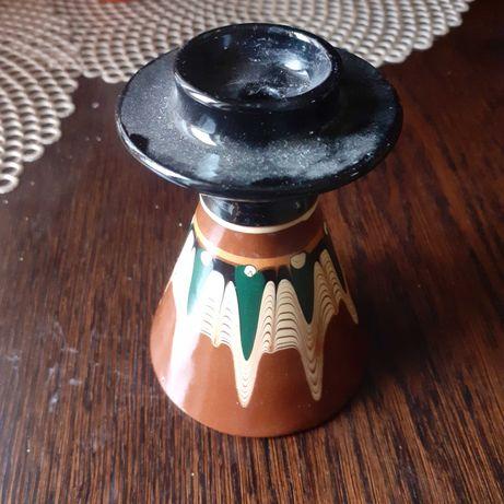 Swiecznik stary ceramika made in Bułgaria