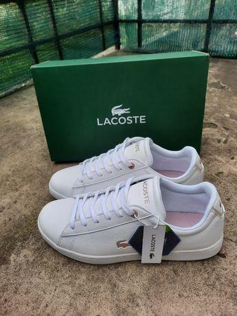Lacoste белые кеды, білі кеди лакоста, кроссовки, кросівки