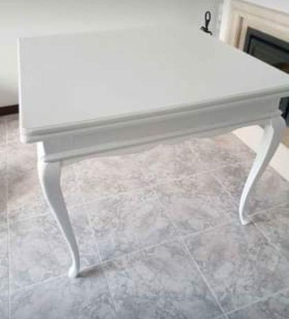 Mesa jantar branca / Queen Anne
