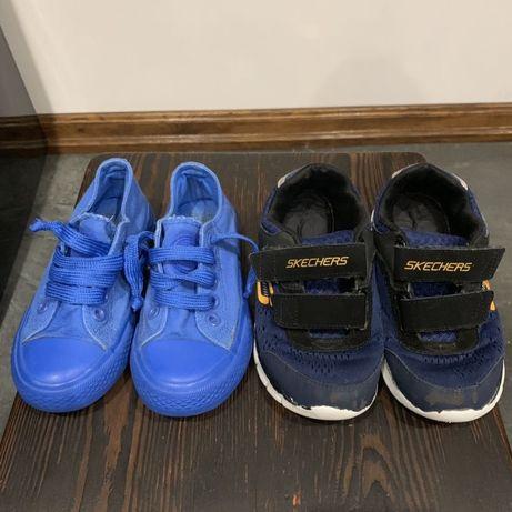 Buty 2 pary adidasów rozm. 27 i 28 oraz 2 pary trampek rozm. 27 i 28
