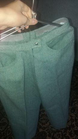 зимние немецкие стильные штаны, брюки приятного зеленого цвета