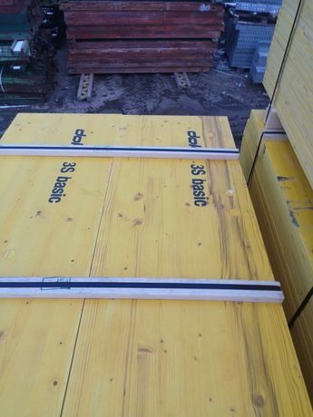 Szalunki stropowe firmy Doka, sklejka, belki, podpory, gerendy, dowóz