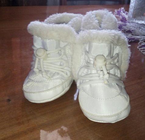 Зимние ботинки-пинетки