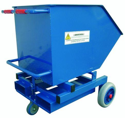 Contentor Basculante p/ empilhador Capacidade: 300 Litros 500 Kg
