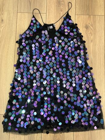 Przepiękna świecąca sukienka H&M rozm. 40