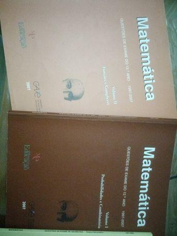 Livros de exercícios exames matemática