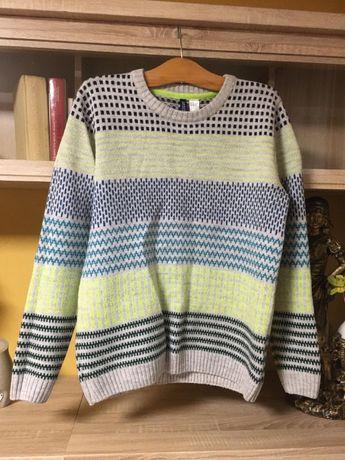 Ciepły modny sweter dla faceta od Divided H&M | Rozmiar M