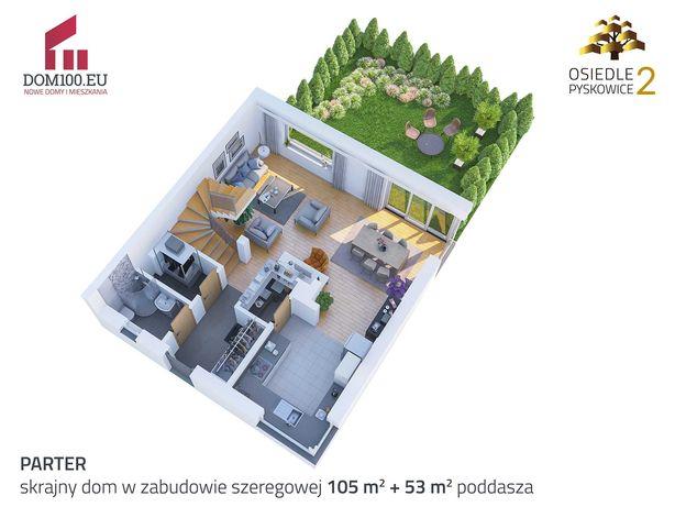 Narożny Ogród - 4 pokoje + poddasze