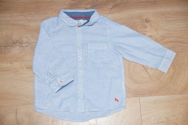 86 H&M L.O.G.G. koszula elegancka z długim rękawem błękitna
