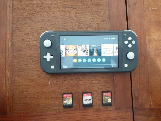Nintendo Switch Lite + 8 Jogos + Sd Card + Adaptador Genki