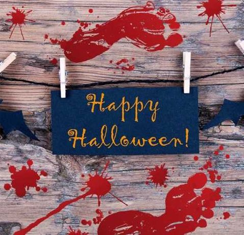Naklejki halloween 4szt