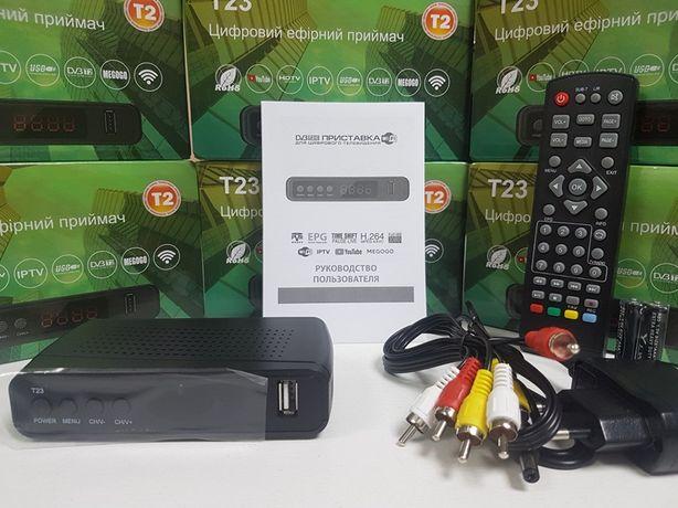 Эфирный DVB-T2 тюнер приставка ресивер декодер GoldenStream T23