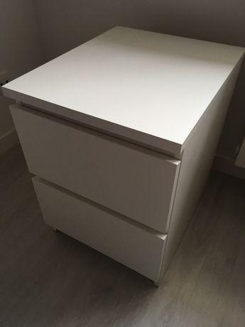 IKEA MALM komoda 2 szuflady biała