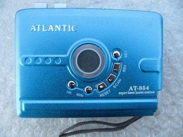 Кассетный плеер Atlantic AT-854 в коллекцию, ЖКИ,автореверс, FM,новый