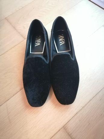 Sapatos Zara veludo