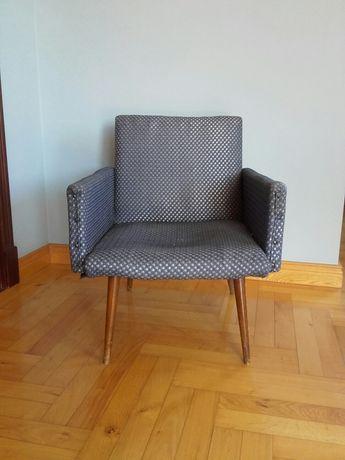 Fotel klubowy PRL lata 60-te vintage