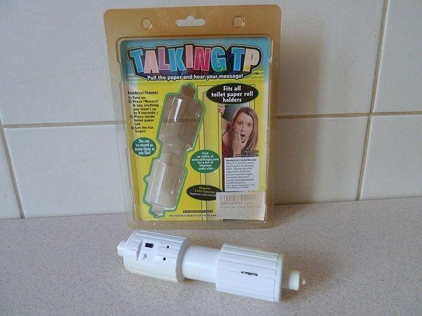 Talking TP czyli mówiący papier toaletowy, elektroniczny gadżet do WC