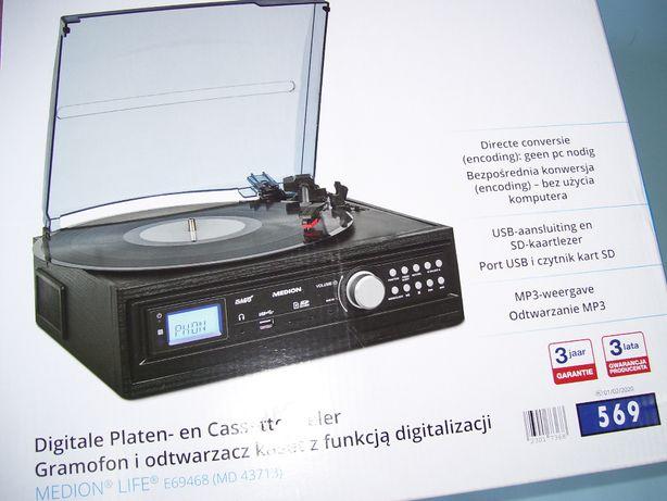 Gramofon i odtwarzacz kaset