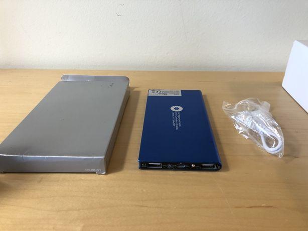 Powerbank de alta capacidade com duas entradas USB