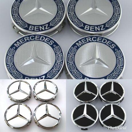 4 tampas tampões centro de jante Mercedes 75mm novos