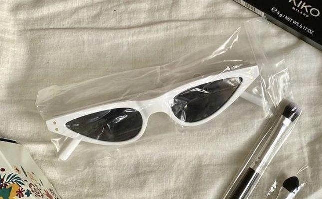 Oculos de sol brancos retro