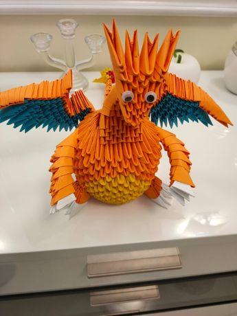 Ręcznie robione origami modułowe - Charizard