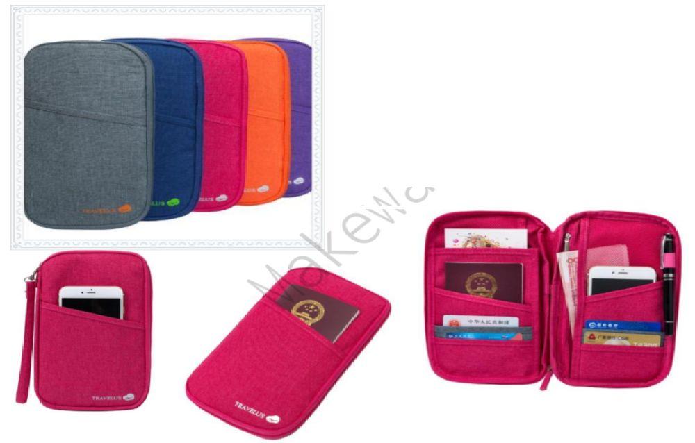 Carteira porta documentos / passaporte / telemóvel / bilhetes / Nova