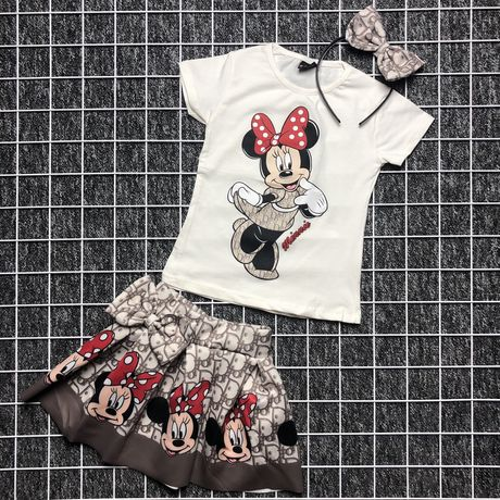 Костюм на девочку | футболка и юбка | хлопок | Турция | от 2х до 8 лет