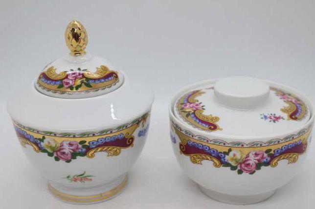 2 Potes em Porcelana Francesa LG Limoges Vintage