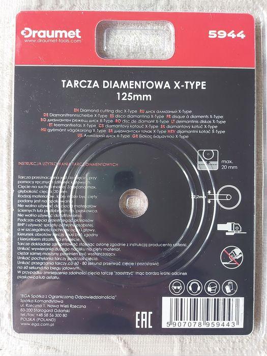 DRAUMET Tarcza diamentowa X-Type 125 x 2,5 Gdansk Gdańsk - image 1