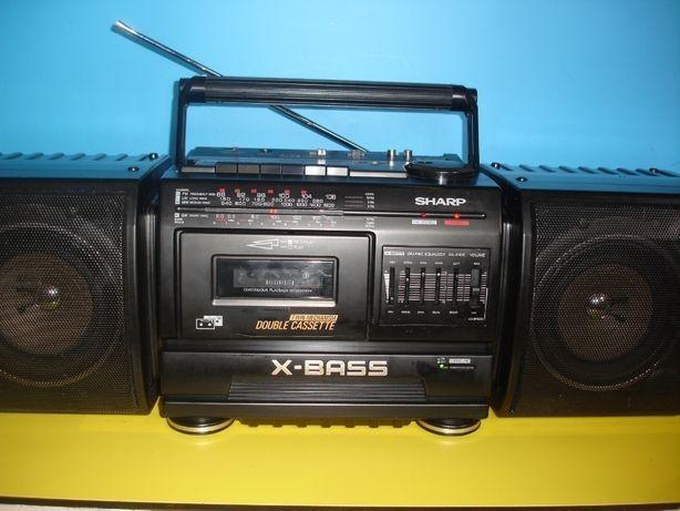 Radio magnetofon x-bass sharp kasety boombox WF-T380H