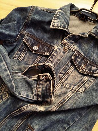 NOWA Katana kurtka jeansowa długa  MODNA OVERSIZE