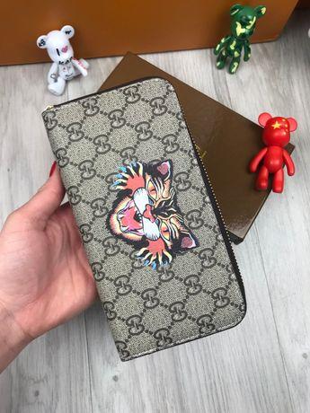 Кошелек бумажник купюрник портмоне барсетка клатч Гуччи Gucci k017