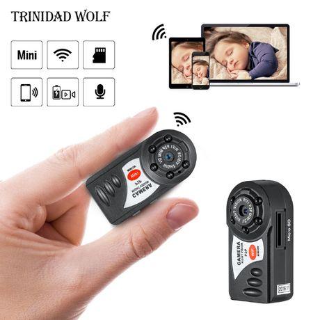 Mała Kieszonkowa Mini Kamera Q7 P2P 5xIR HD WiFi